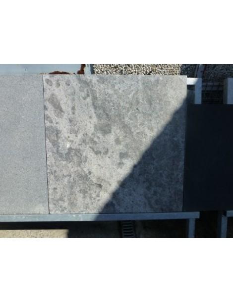 Blauwsteen 100x100x3 cm - Gevlamd en Geborsteld